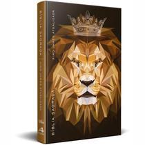 Bíblia King James Slim Leão King - Marrom - Art Gospel -