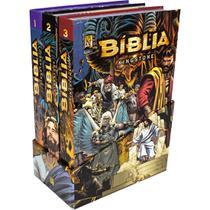 Bíblia Kingstone Box Mangá - A Bíblia Completa em Quadrinhos - 100% CRISTÃO