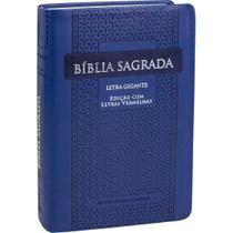 Bíblia letra gigante almeida corrigida índice pjv sbb luxo - Editora Sbb