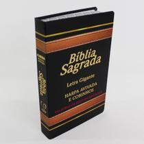 Bíblia Letra Gigante com Harpa Avivada Corinhos Laminada  Palavras Jesus Vermelho - Casa Publicadora Paulista