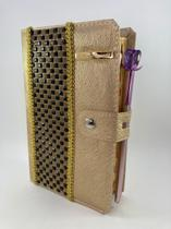 Bíblia Letra Hiper Gigante RC Harpa e Índice Com Pedraria -