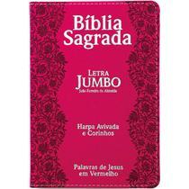 Bíblia Letra Jumbo Com Harpa Pink Cpp -