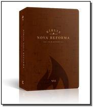 Bíblia Nova Reforma - NVI - Luxo PU Marron - Vida -