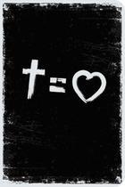 Bíblia NVT 960 Cross Equals Love B&W - Letra Normal - Editora Sankto -