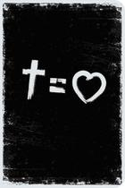 Bíblia NVT 960 Cross Equals Love B&W - Letra Normal - SANKTO