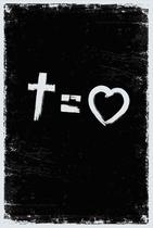 Bíblia nvt cross equals love b&w letra normal - Maquinaria Studio -