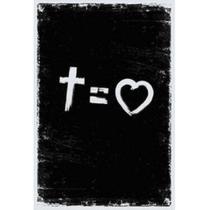 Bíblia NVT Cross Equals Love B&W Letra Normal + Marca Página - SANKTO