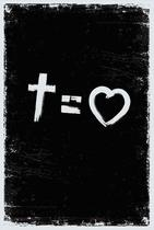 Bíblia NVT Cross Equals Love B&W Letra Normal - SANKTO