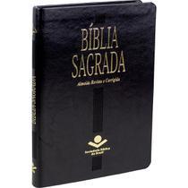 Bíblia Sagrada Almeida Revista e Corrigida - Slim - Cp Sint Preto Alpha - Editora Sbb