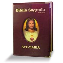 BIBLIA SAGRADA AM ILUSTRADA MARROM - 1a - Ave Maria
