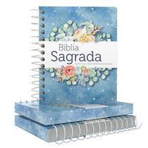 Bíblia Sagrada Anote Plus - Letra Grande - Capa Dura Espiral - Pontos de Luz - Geografica