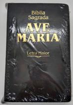 Bíblia Sagrada Ave Maria Letra Grande c/ Zíper Marrom - Yeshua
