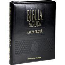 Biblia sagrada - capa couro - letra grande - ziper - Sbb