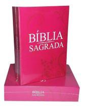 Bíblia Sagrada Católica - Rosa (Português) Capa comum - Escala