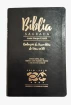 Bíblia Sagrada com Harpa Edição Comemorativa Cent Assembleia de Deus no Rio Grande do Norte Preta - Cpad