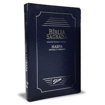 Bíblia Sagrada Com Harpa Slim Coverbook Azul ARC - Cpp
