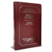 Bíblia Sagrada Com Harpa Slim Coverbook Bordô ARC - Cpp