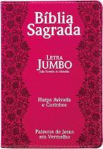 Bíblia Sagrada Feminina letra Jumbo c/Harpa Pink - Cpp -