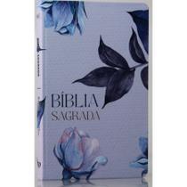 Bíblia Sagrada  Floral  Soft Touch  Slim  Letra Normal - Livro Cristão