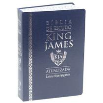 Bíblia Sagrada King James Atualizada 1611 Fiel Letra Hipergigante Azul - Cpp