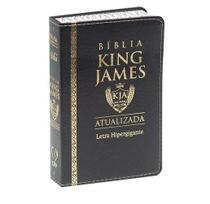 Bíblia Sagrada King James Atualizada 1611 Fiel Letra Hipergigante Preta - Cpp