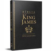 Biblia Sagrada King James Atualizada Slim Luxo Preta Art Gospel -
