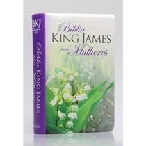 Bíblia Sagrada  King James Para Mulheres  Letra Normal  Capa Luxo Florida verde  BV Books -