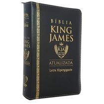 Bíblia Sagrada King James PU Zíper Atualizada Hipergigante Preta - Cpp