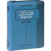 Bíblia Sagrada Letra Grande com índice digital e zíper - SBB