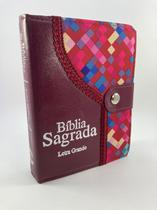 BÍBLIA SAGRADA LETRA GRANDE ÍNDICE ALMEIDA CORRIGIDA Botão - Cpp