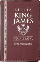 Bíblia Sagrada Letra Hipergigante - King James 1611 - Capa Luxo PU  Marrom - Cpp