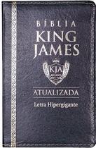 Bíblia Sagrada Letra Hipergigante - King James 1611 - Capa Luxo PU  Preta - Cpp