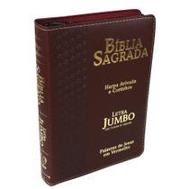 Bíblia Sagrada Letra Jumbo com Harpa Avivada e Corinhos com Zíper - ARC - Casa Publicadora Paulista