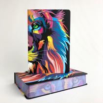 Bíblia Sagrada Lion Color  NVT  Capa Soft Touch  Letra Grande  Ilustrada - Mundo Cristão