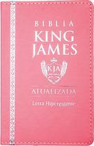 Bíblia Sagrada Lt Hipergigante - King James 1611 Luxo Rosa - Cpp