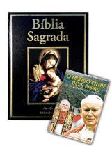 Bíblia sagrada luxo + dvd mundo entre dois papas - Armazem