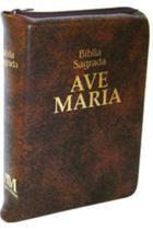 Bíblia Sagrada Média Com Ziper Ave-maria - Formato