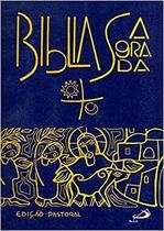 Bíblia Sagrada média- Edição Pastoral - Capa cristal - Paulus -
