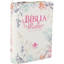 Biblia Sagrada  Mulher  RA  Beiras Floridas com Ziper Tropical - Sociedade Bíblica Do Brasil