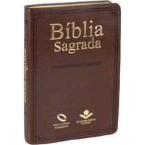 Bíblia Sagrada - Nova Almeida Atualizada - Capa Couro Marrom - Editora Sbb