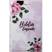 Bíblia Sagrada  Pétalas  Soft Touch  Slim  Letra Normal - Livro Cristão