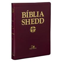 Biblia Shedd - Couro Bonded Bordo - Editora Vida Nova -