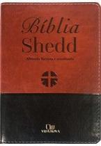 Bíblia Shedd - Luxo Marrom/Preta - Editora Vida Nova -