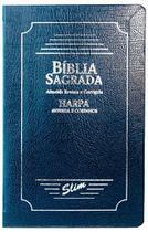 Bíblia Slim Lt Padrão ARC Harpa Luxo COVERBOOK  Azul - Cpp