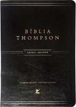Bíblia Thompson - Grande - Luxo Preta - Editora Vida -