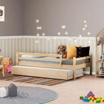 Bicama Infantil Reversível com Grade de Proteção Natural - Casatema -