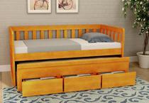 Bicama Oriente com 3 Gavetas de Madeira Maciça Pinus - Bedroom
