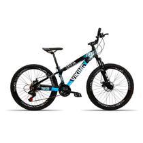 Bicicleta 26 Vikingx 21v Cambio Shimano Aro Vmax Pt Azul -