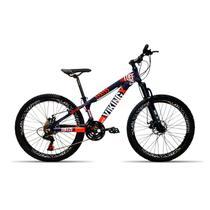 Bicicleta 26 Vikingx 21v Cambio Shimano Aro Vmax Roxo -