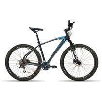 Bicicleta 29 High One 2018 27V Kit Shimano Acera Preto com Azul 17